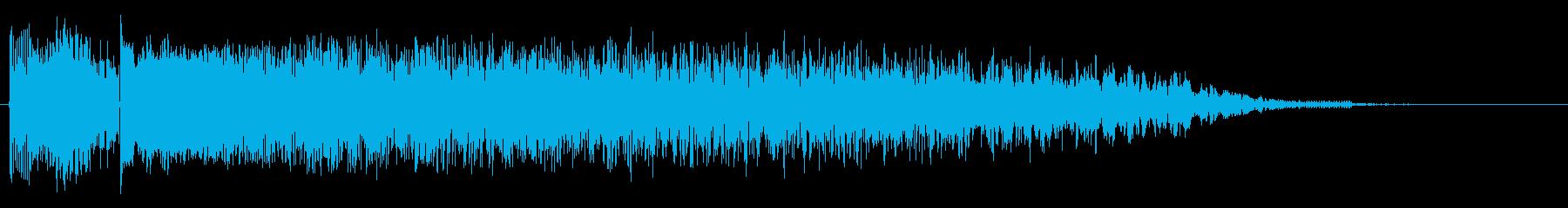 サイバーアヒルの再生済みの波形