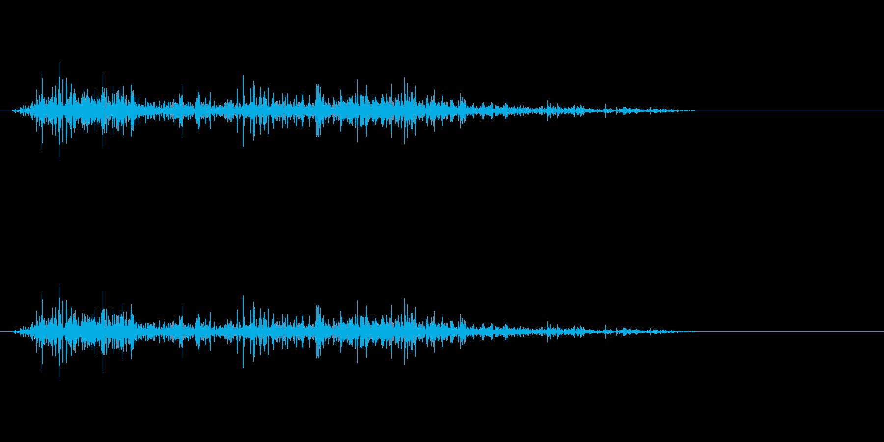アクションの衣擦れ-07の再生済みの波形