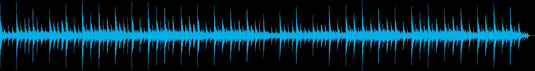 可愛らしい音色の寝かしつけ音楽の再生済みの波形