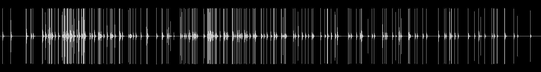 長い列の燃えさし、爆発花火の未再生の波形
