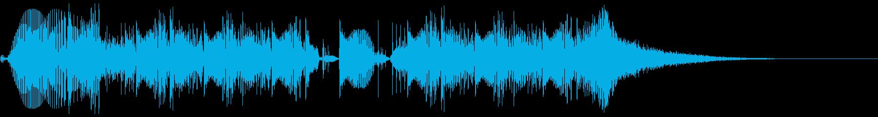 ニューロ・サイトランスなジングル1の再生済みの波形