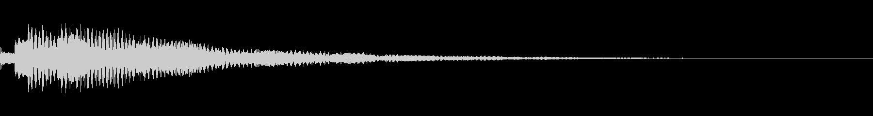 オリエンタルで涼やかなフレーズ 通知音の未再生の波形
