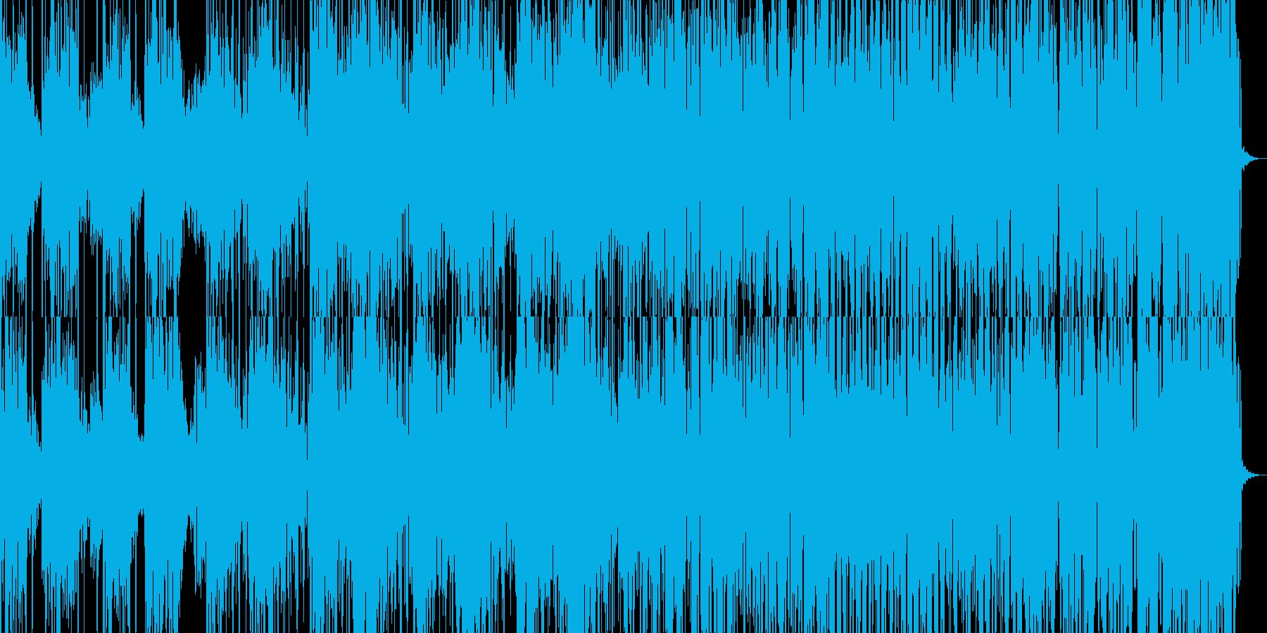 きれいな音色のビートトラックの再生済みの波形