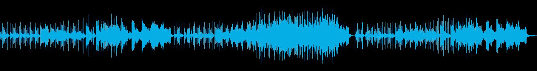 不思議な雰囲気のBGMの再生済みの波形