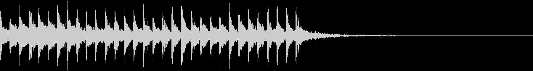 透明感のあるEDMジングル3の未再生の波形