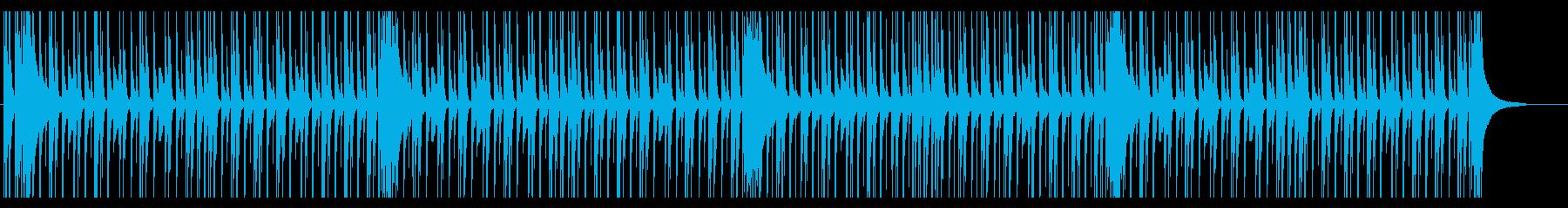 ジャジーでこじゃれたソロドラムの再生済みの波形