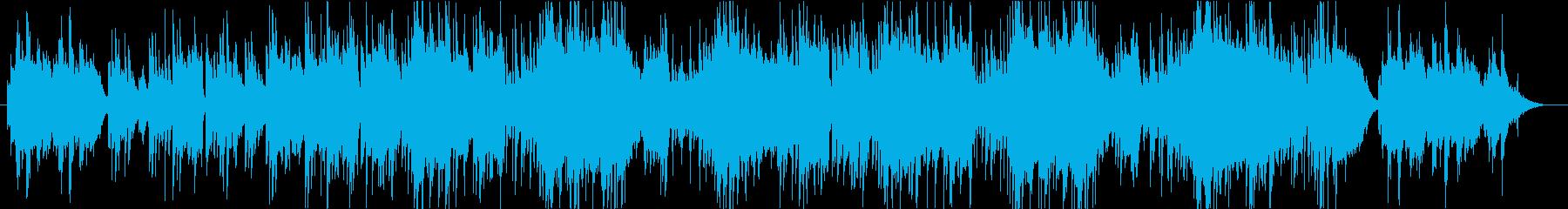 ピアノとストリングスの明るいワルツの再生済みの波形