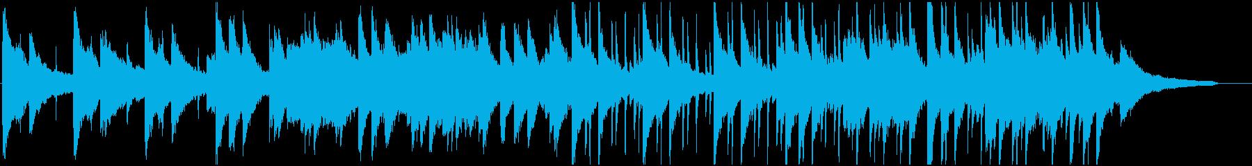 爽やかなピアノ、カホンのゆったりBGMの再生済みの波形