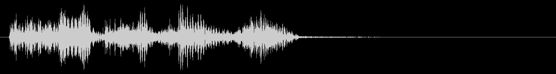 魔物、モンスターが攻撃してくる音の未再生の波形