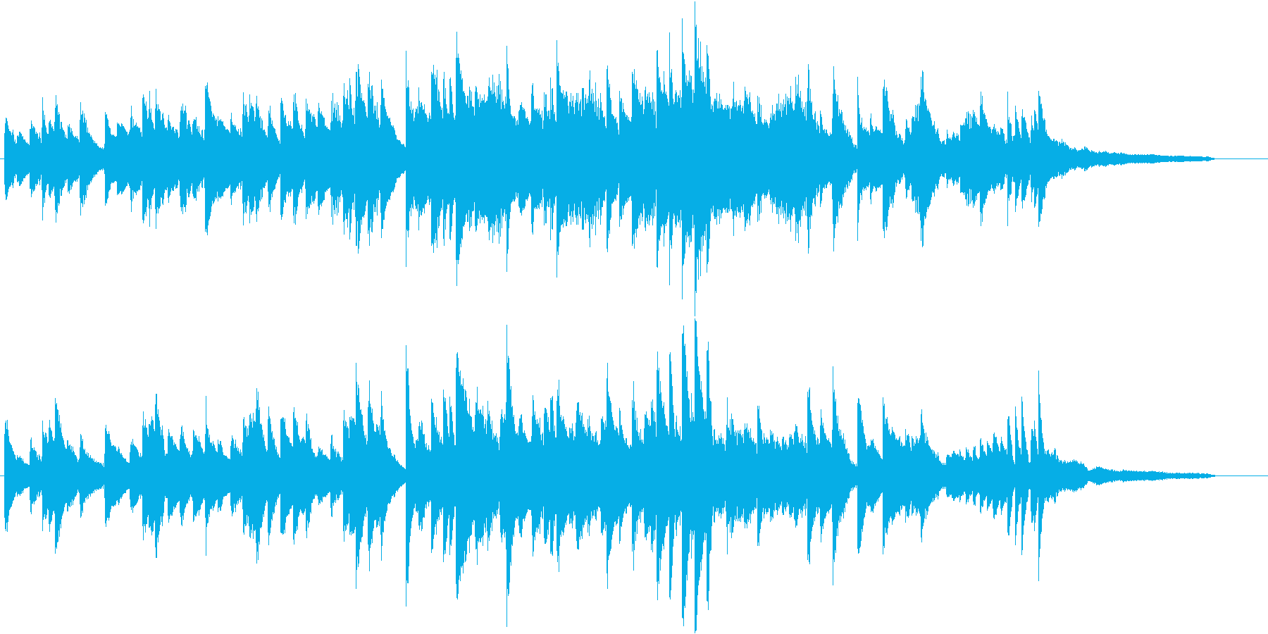 澄み渡る和音のメロディアスピアノジングルの再生済みの波形