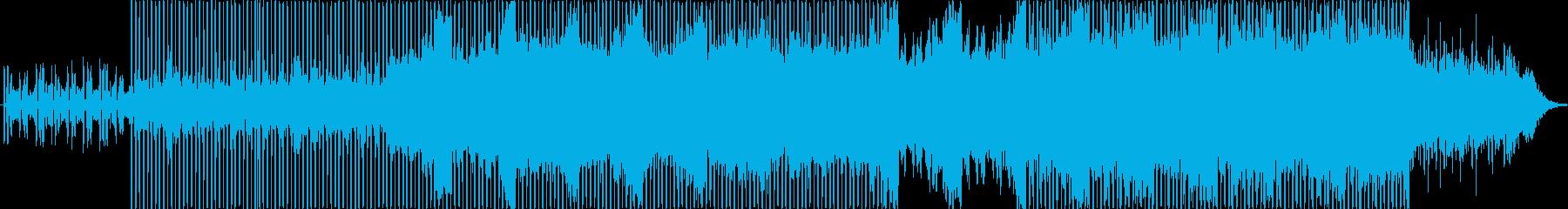 近未来、ハイテクノロジー感のあるBGMの再生済みの波形