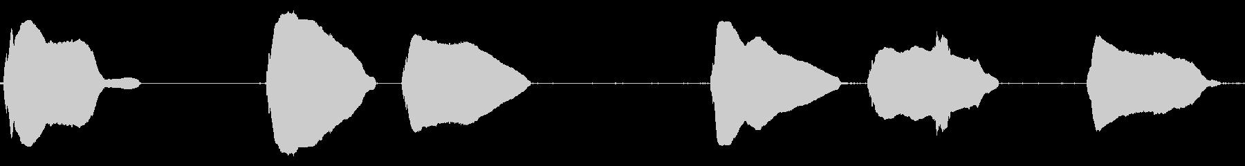 ウルフハウルx6ハウルの自然なポーズの未再生の波形