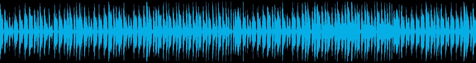動画に使えるループBGMです。の再生済みの波形