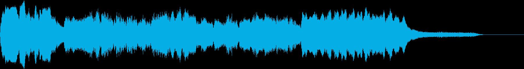 フルート、ハープの美しい和風ジングルの再生済みの波形