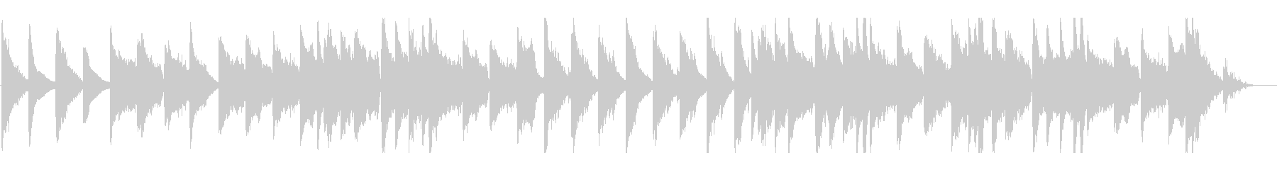 ゆったりとしたチェロのヒーリングBGMの未再生の波形
