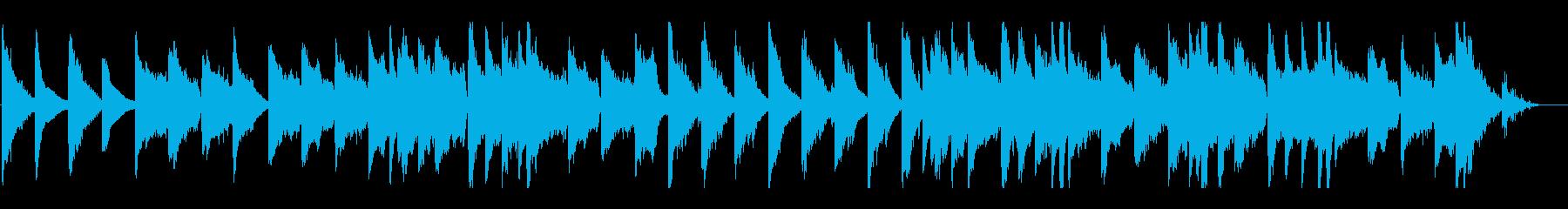 ゆったりとしたチェロのヒーリングBGMの再生済みの波形