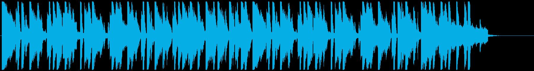 Kawaii系の穏やかな短めのBGMの再生済みの波形
