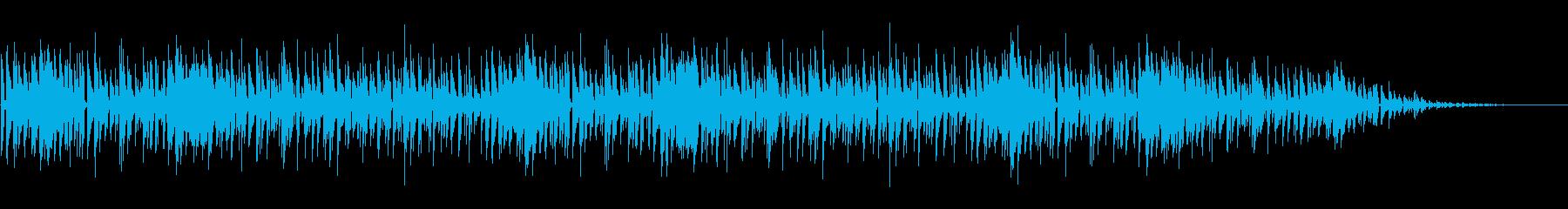柔らかく暖かみのあるアコースティック曲の再生済みの波形