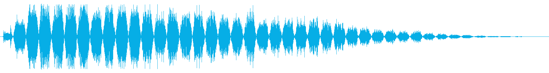 スプリッタードロップ、パワーダウン...の再生済みの波形