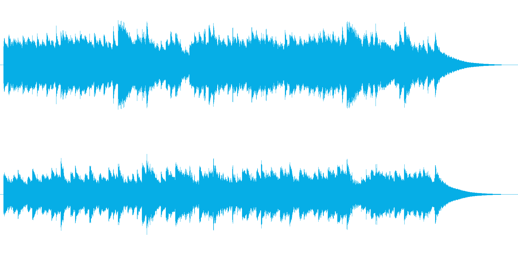 おやすみ前の癒しオルゴールBGMの再生済みの波形