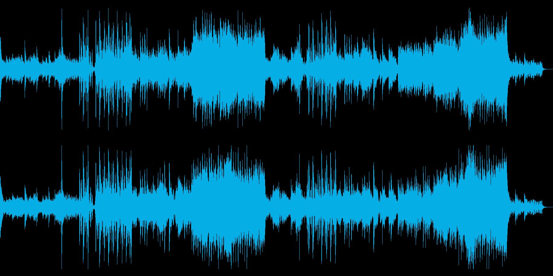 穏やかで神秘的なオーケストラ曲の再生済みの波形
