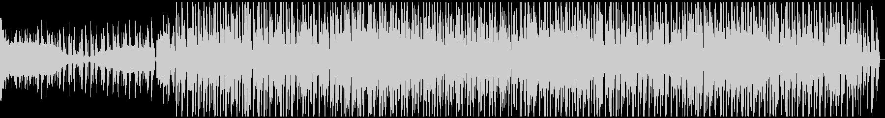 ノリの良いレトロモダンなBGMの未再生の波形