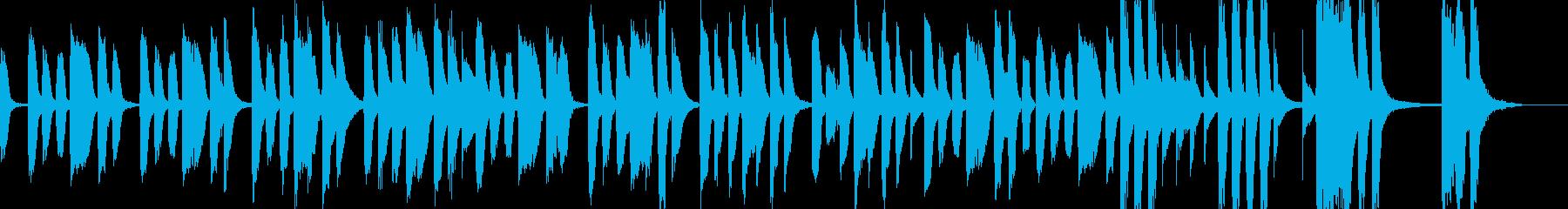 素朴な日常の再生済みの波形