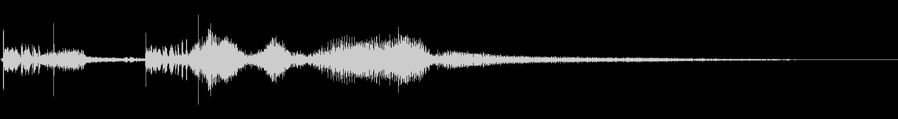 1号車;開始、中ドラッグマフラーの未再生の波形