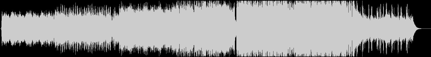ピアノとシンセリードが印象的なEDMの未再生の波形