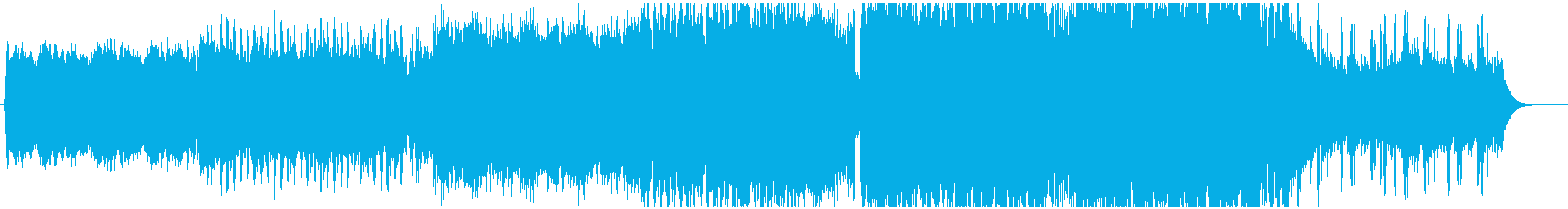 ピアノとシンセリードが印象的なEDMの再生済みの波形