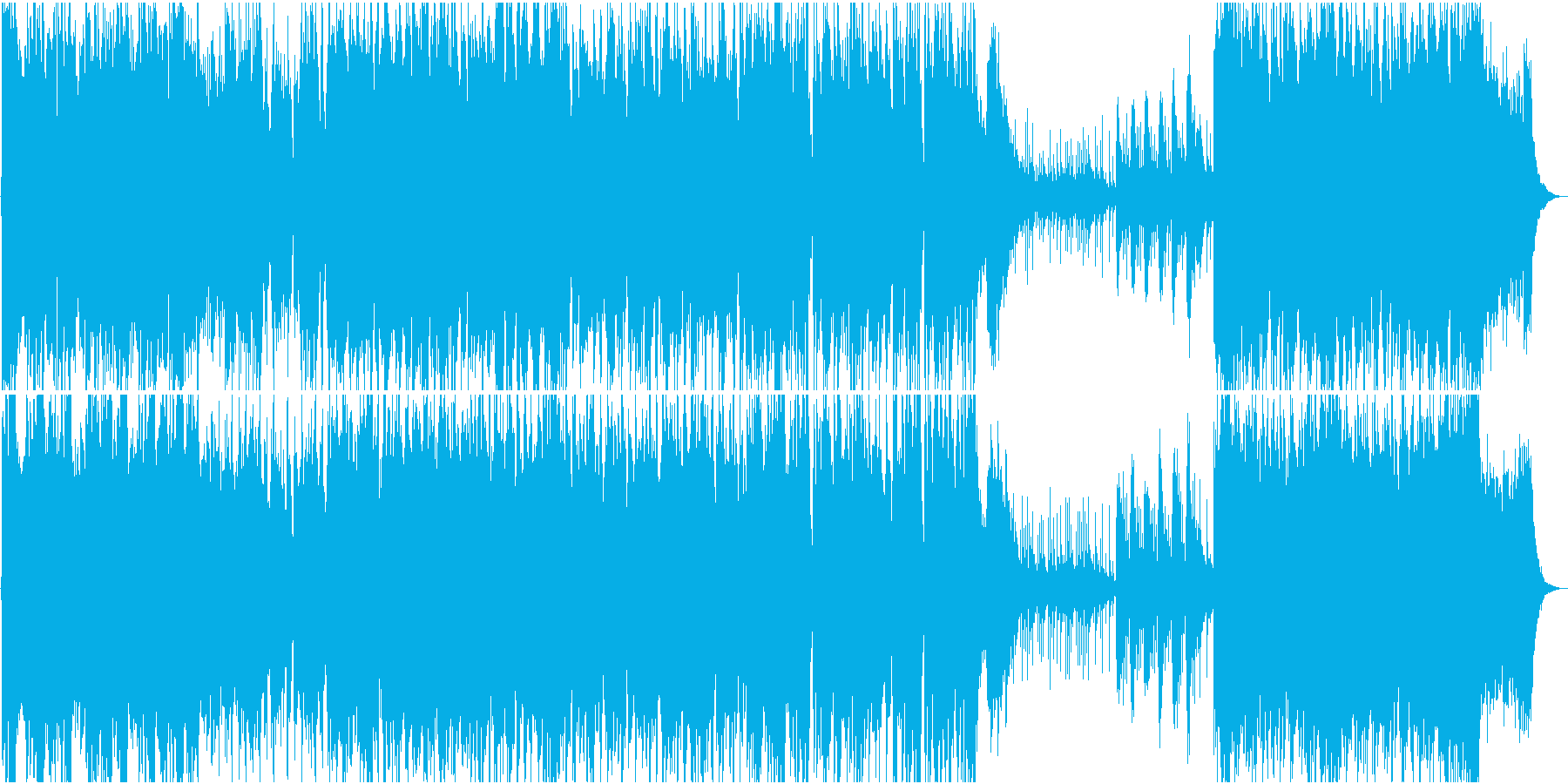 雄大なオーケストラ調の戦闘曲の再生済みの波形