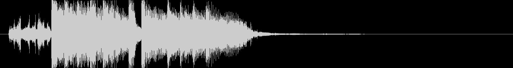 さわやかなラジオのジングル風楽曲の未再生の波形