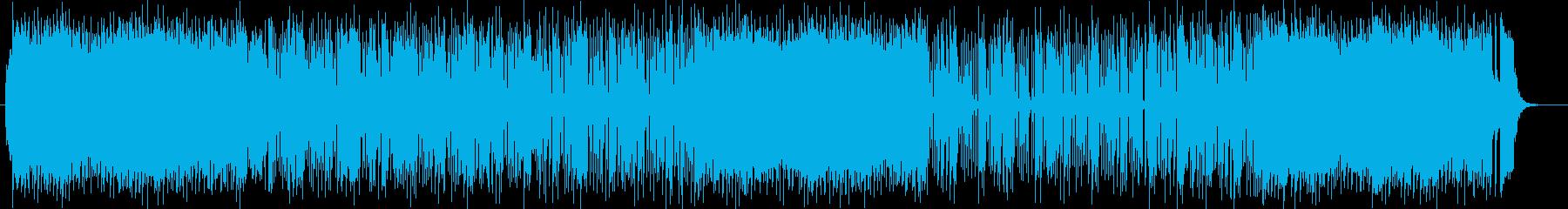 スッキリした明るいシンセサイザーの曲の再生済みの波形