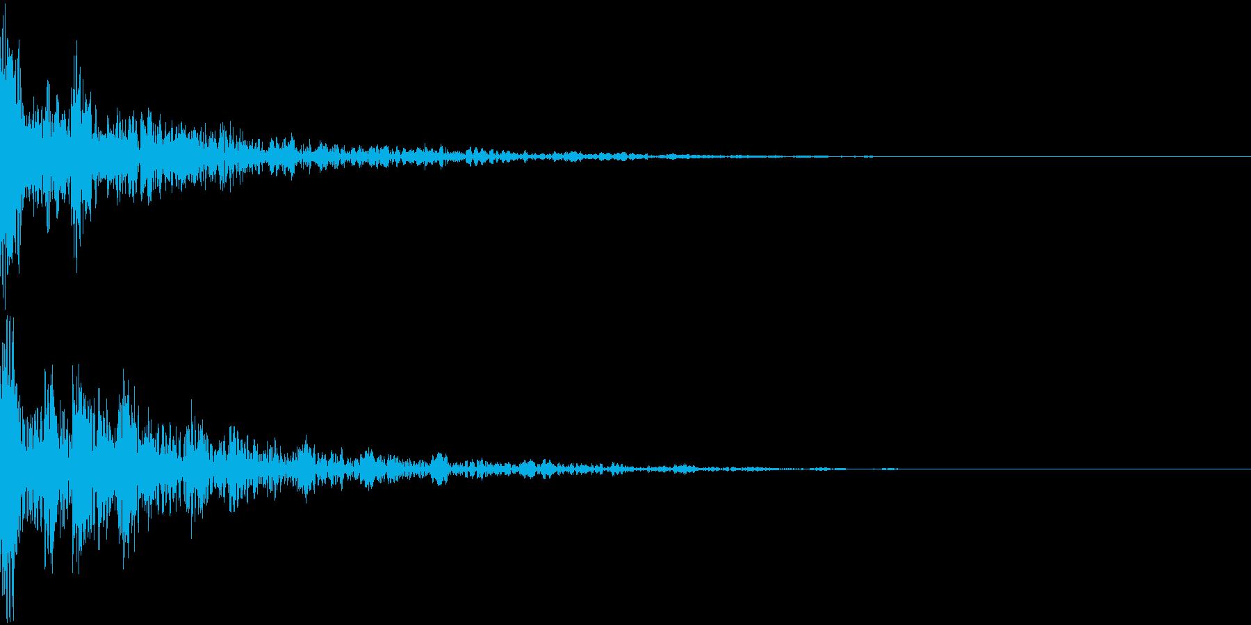 ドーン-50-2(インパクト音)の再生済みの波形