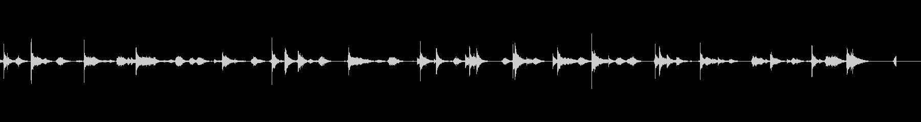 剣道試合-観客なし-道場-喉音の戦...の未再生の波形