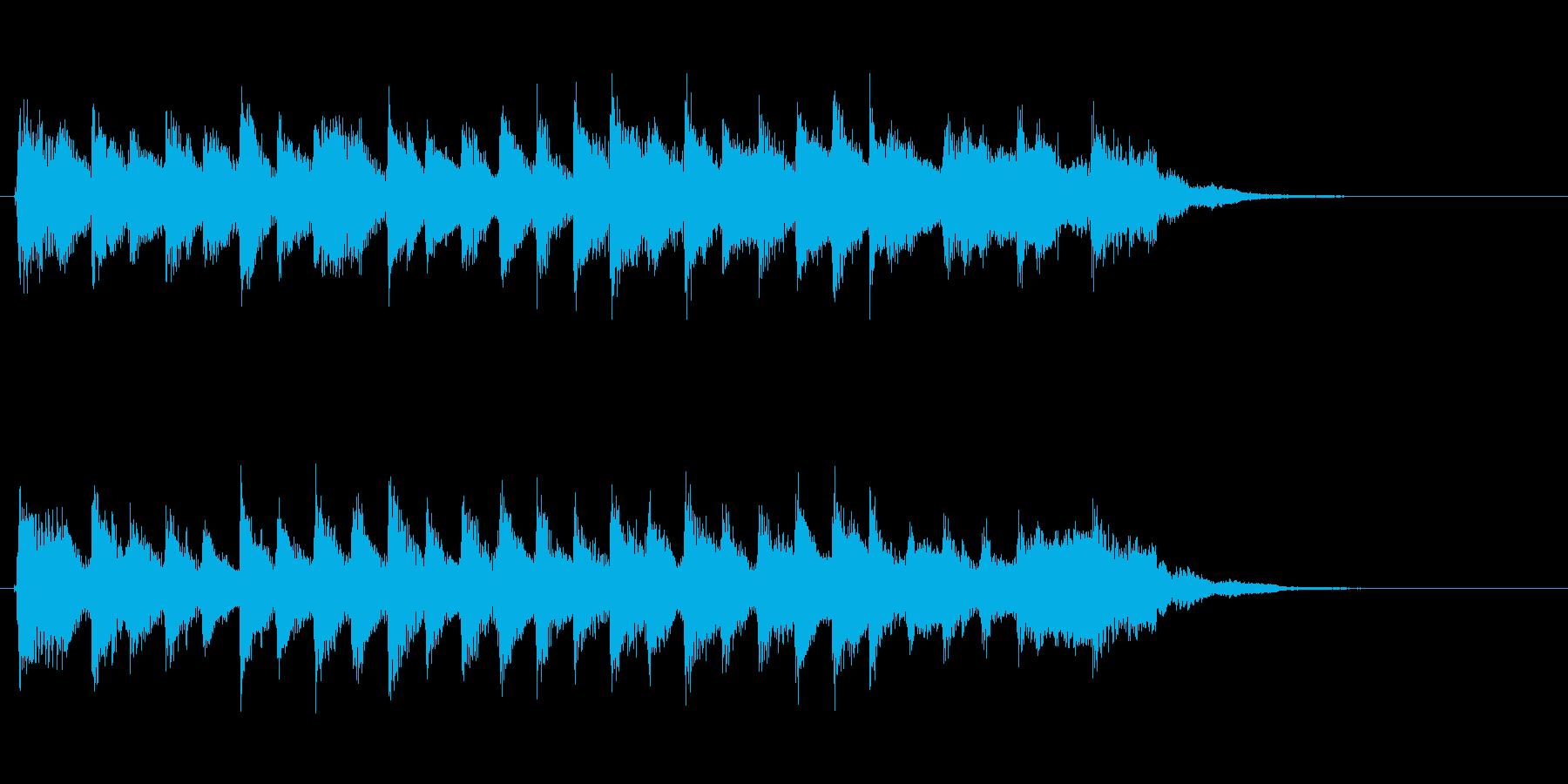 動画等のオープニングや短めなCMにの再生済みの波形