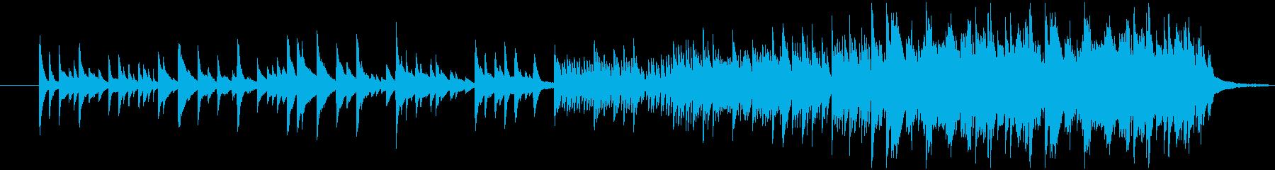 響きが力強いピアノメロディーの再生済みの波形