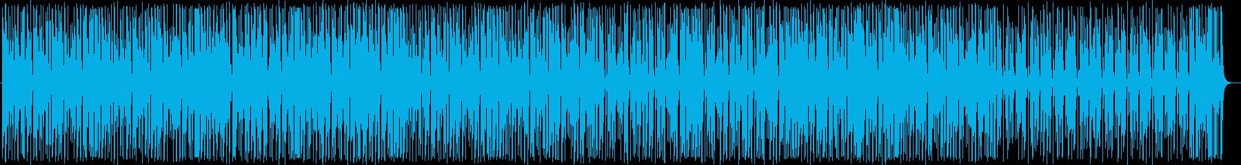 ファンクギターとブラスのポップロックの再生済みの波形