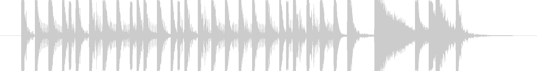 ドラム ベース ロックテイストなリズムの未再生の波形