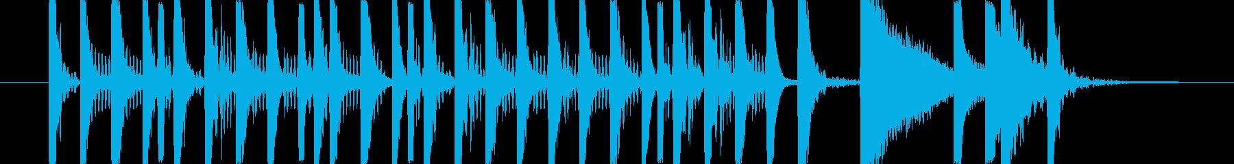 ドラム ベース ロックテイストなリズムの再生済みの波形