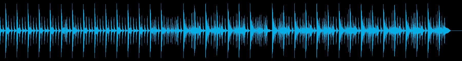 キックなし、167 BPMの再生済みの波形