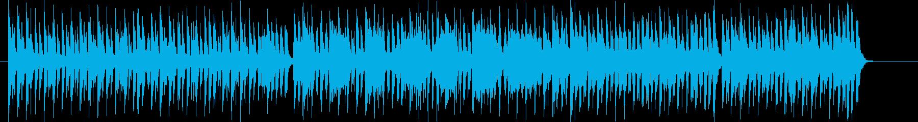 可愛らしいポップなミュージックの再生済みの波形