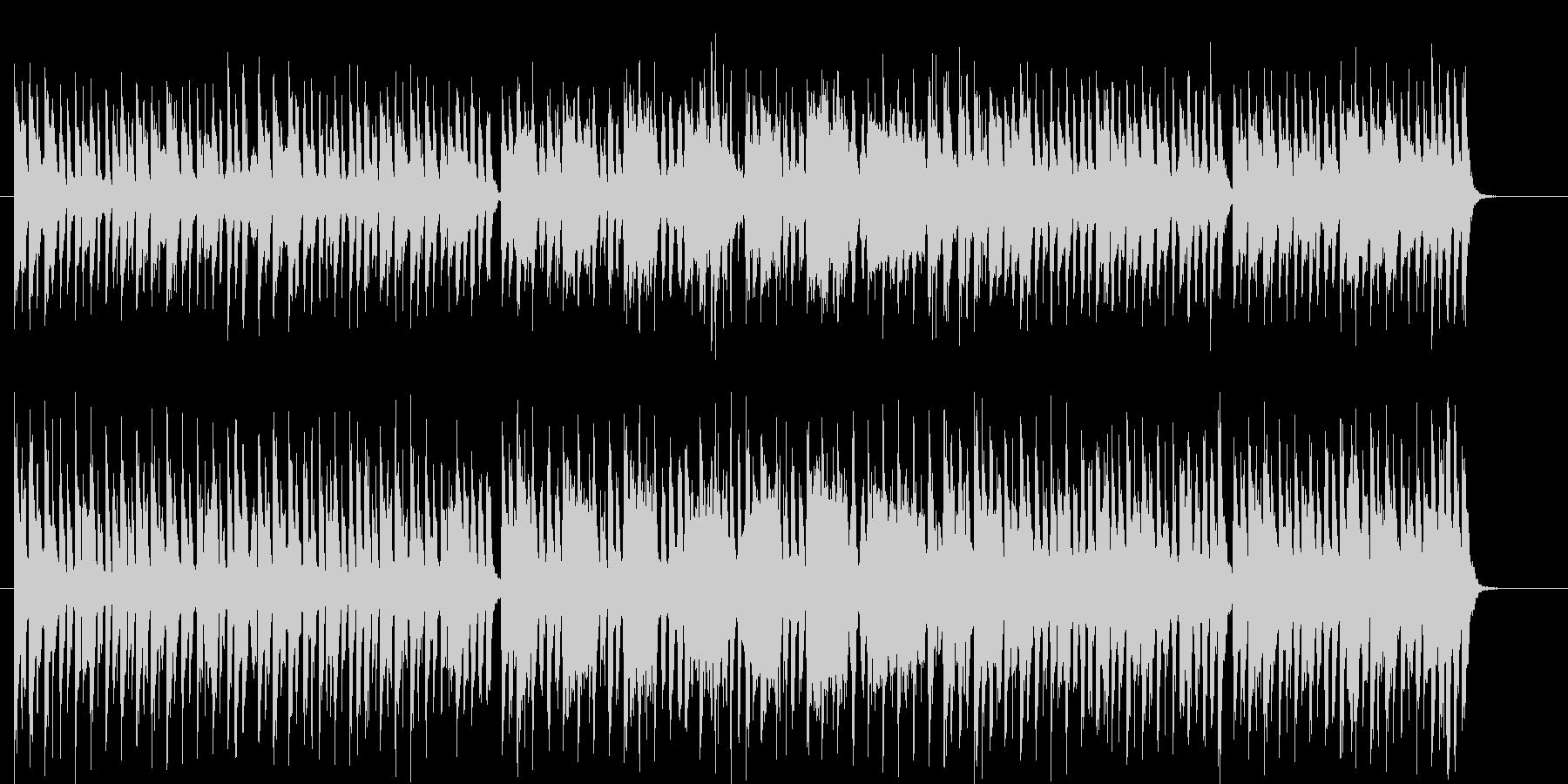 可愛らしいポップなミュージックの未再生の波形