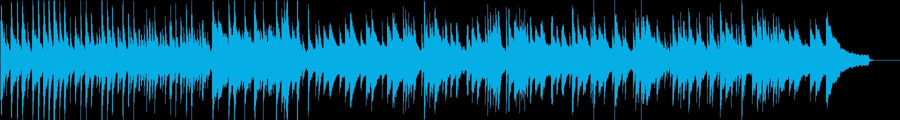 ピアノ楽曲。さびれた宮殿の時計のイメージの再生済みの波形
