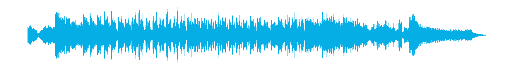 アップテンポで楽しいテクノポップの曲の再生済みの波形