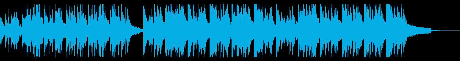 ホラーなピアノアレンジの「かごめかごめ」の再生済みの波形
