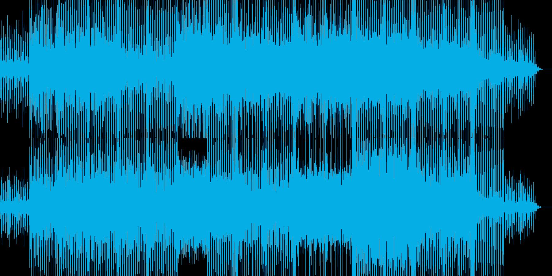 ちょっと切なくかっこいい感じのロックの再生済みの波形