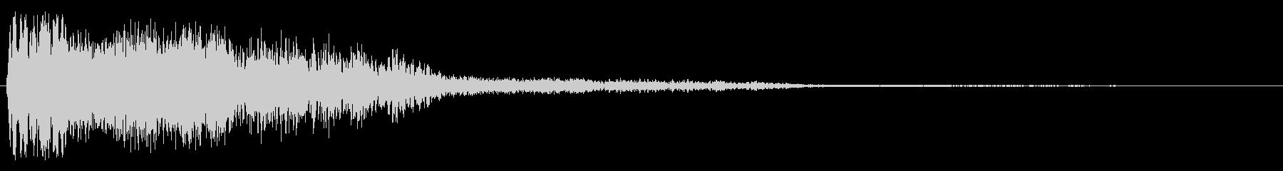 ボヨーンと跳ね返るような音の未再生の波形