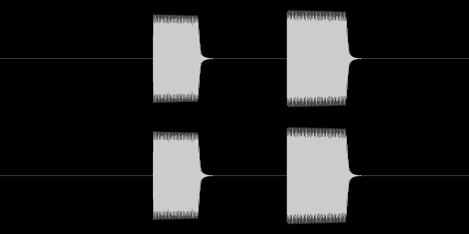 ピピッ(タイマー・アラーム・通知・計測)の未再生の波形