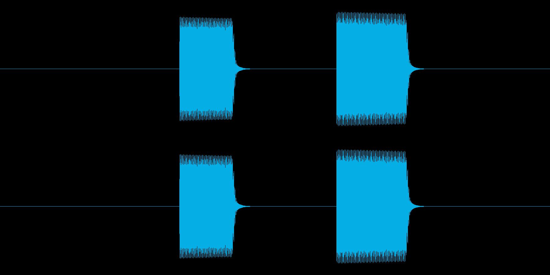 ピピッ(タイマー・アラーム・通知・計測)の再生済みの波形
